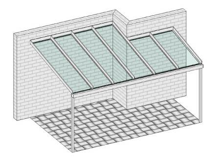 Pultdach mit integrierter Hausecke