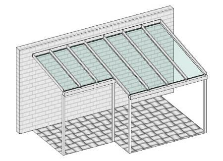 Pultdach mit unterschiedlichen Bautiefen